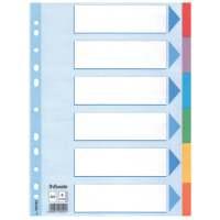 Bild Register - blanko, Karton, A4, 6 Blatt, weiß, farbige Taben