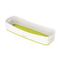 Bild 5258 Aufbewahrungsschale MyBox - länglich, ABS, weiß/grün