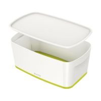Bild 5229 Aufbewahrungsbox MyBox Klein - A5, mit Deckel, ABS, weiß/grün