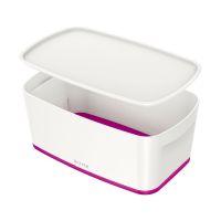 Bild Aufbewahrungsbox MyBox Klein - A5, mit Deckel, ABS, weiß/pink