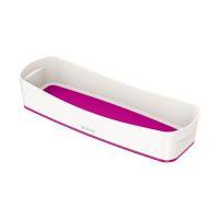 Bild Aufbewahrungsschale MyBox - länglich, ABS, weiß/pink