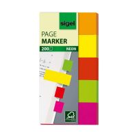 Bild Haftmarker Neon - 50 x 20 mm, 5 Farben, 200 Streifen
