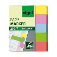 Bild Haftmarker Brillant - 50 x 12 mm, 5 Farben, 200 Streifen