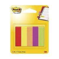 Bild Haftstreifen Page Marker schmal, 12,7 x 44,4 mm, farbig sortiert, 5 x 50 Blatt