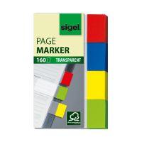 Bild Haftmarker Transparent - 50 x 20 mm, 4 Farben, 160 Streifen