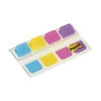 Bild Haftstreifen Post-it® Index STRONG im Etui - 16x38mm, türkis, gelb, pink, lila, 4 x 10 Stück
