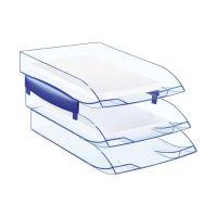Bild Briefkorb - A4/C4, blau-transparent