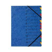 Bild Ordnungsmappe EASY - 12 Fächer, A4, Pressspan, 265 g/qm, blau
