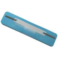 Bild Heftstreifen Kunststoff, kurz - Deckleiste aus Kunststoff, hellblau, 25 Stück
