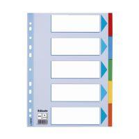 Bild Register - blanko, Karton, A4, 5 Blatt, weiß, farbige Taben