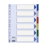 Bild Register - blanko, A4, PP, 6-teilig + Deckblatt, farbig