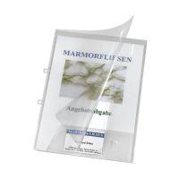 Bild Angebotsmappe Crystal mit Visitenkartenfach, transparent