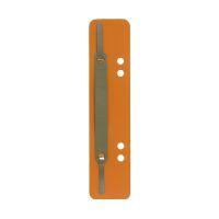 Bild Heftstreifen Kunststoff, kurz - Deckleiste aus Metall, orange, 25 Stück