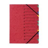 Bild Ordnungsmappe EASY - 12 Fächer, A4, Pressspan, 265 g/qm, rot