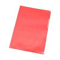 Bild Sichthülle - A4, 120 mym, genarbt rot, 100 Stück