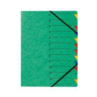 Bild Ordnungsmappe EASY - 12 Fächer, A4, Pressspan, 265 g/qm, grün