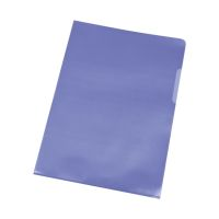 Bild Sichthülle - A4, 120 mym, genarbt blau, 100 Stück