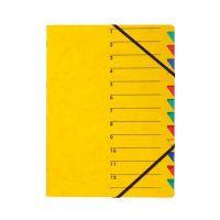 Bild Ordnungsmappe EASY - 12 Fächer, A4, Pressspan, 265 g/qm, gelb