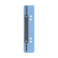 Bild Heftstreifen Kunststoff, kurz - Deckleiste aus Metall, hellblau, 25 Stück