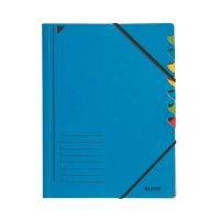 Bild 3907 Ordnungsmappe - 7 Fächer, A4, Pendarec-Karton (RC), 430 g/qm, blau