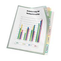 Bild Registerhülle - PP, A4, transparente mit farbiger 5-fach Unterteilung