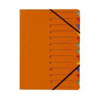 Bild Ordnungsmappe EASY - 12 Fächer, A4, Pressspan, 265 g/qm, orange