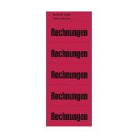 Bild Inhaltsschilder Rechnungen - Beutel mit 100 Stück, rot