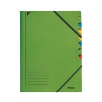 Bild 3907 Ordnungsmappe - 7 Fächer, A4, Pendarec-Karton (RC), 430 g/qm, grün