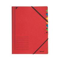 Bild 3907 Ordnungsmappe - 7 Fächer, A4, Pendarec-Karton (RC), 430 g/qm, rot