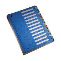 Bild 5912 Deskorganizer Color 1-12 - 12 Fächer, Karton, blau