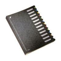 Bild 5912 Deskorganizer Color 1-12 - 12 Fächer, Karton, schwarz