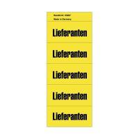 Bild Inhaltsschilder Lieferanten - Beutel mit 100 Stück, gelb