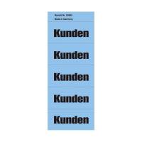 Bild Inhaltsschilder Kunden - Beutel mit 100 Stück, blau