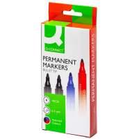 Bild Permanentmarker, ca. 2 mm, 4-er Etui: blau, rot, 2 x schwarz