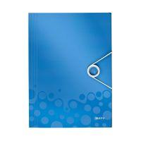 Bild 4599 Eckspannermappe WOW - A4, PP, blau metallic