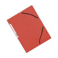 Bild Eckspanner - Karton A4 mit Gummizug rot