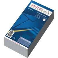 Bild Briefumschläge DIN lang (220x110 mm), mit Fenster, selbstklebend, 72 g/qm, 100 Stück