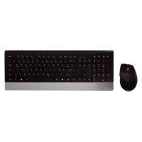 Bild Funk-Tastatur- und Maus-Set HIGHLINE, QWERTZ, schwarz/silber