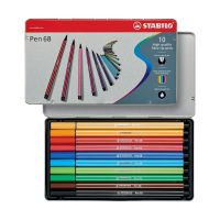 Bild Fasermaler Pen 68 - Metalletui, 10 Farben