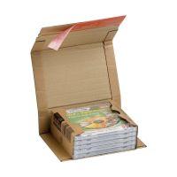 Bild Klassische Versandverpackung zum Wickeln 147x126x55 mm (für CDs), braun