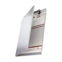 Bild Klemmbrettmappe A4 mit seitlicher Schutzklappe Aluminium