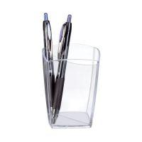 Bild Stifteköcher Happy - glasklar, 74 x 74 x 95 mm