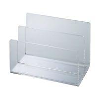 Bild Acryl-Kartenständer, 2 Fächer, 153 x 100 x 99 mm, glasklar
