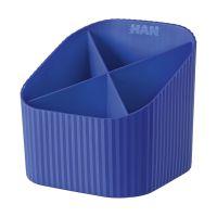 Bild Schreibköcher X-LOOP - 4 Fächer, blau