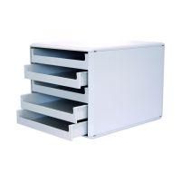 Bild Schubladenboxen - A4, 5 offene Schubladen, hellgrau/hellgrau