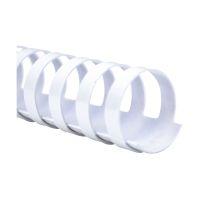 Bild Spiralbinderücken Plastik - A4, 8 mm/45 Blatt, weiß, 100 Stück