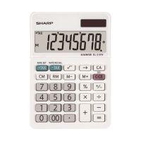 Bild Tischrechner EL-310W - 8-stellig, Batterie/Solar, 85 x 26 x 122 mm, weiß