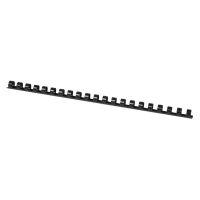 Bild Plastik-Binderücken, 12 mm, für 95 Blatt, schwarz, 100 Stück