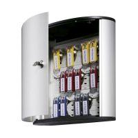 Bild Schlüsselkasten KEY BOX - 18 Haken, mit Zylinderschloss, grau