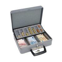 Bild Geldzählkassette Standard - 355 x 275 x 100 mm, lichtgrau/schwarz